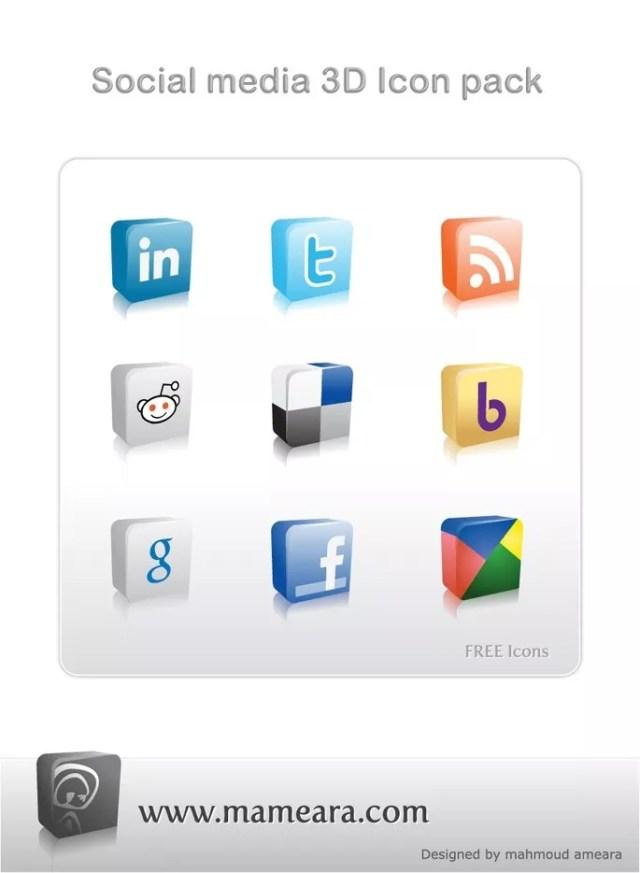 Social Media 3D Icon Pack - mameara