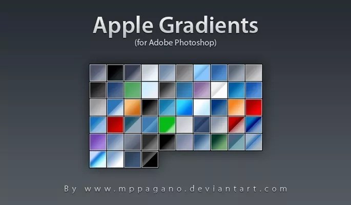 Apple Gradients - Free Gradients Color for Photoshop