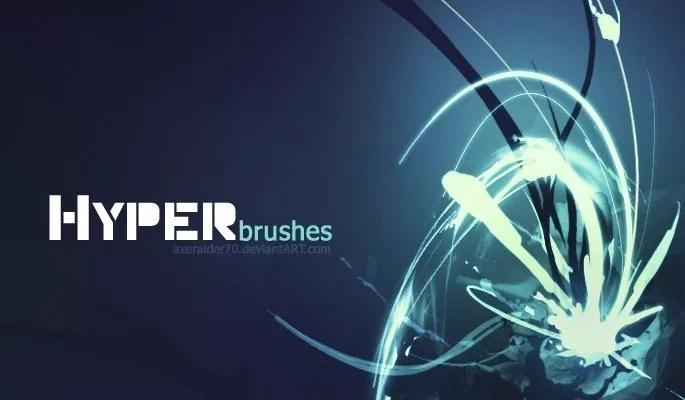 Hyper Brushes by Axeraider70 - Amazing light photoshop brushes