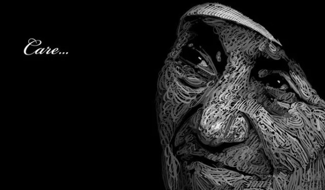 Mother Teresa in Type - Amazing and inspiring typography designs