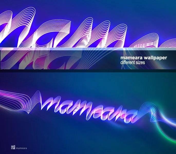 mameara wallpaper1 - Lightning text effect wallpaper
