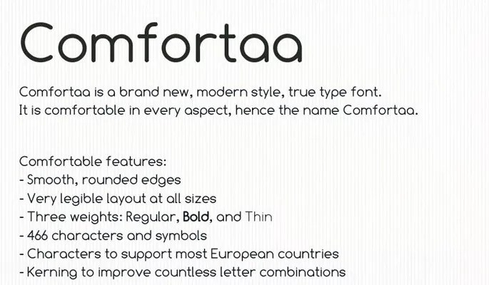 Comfortaa - 18 High quality free fonts for creative designs