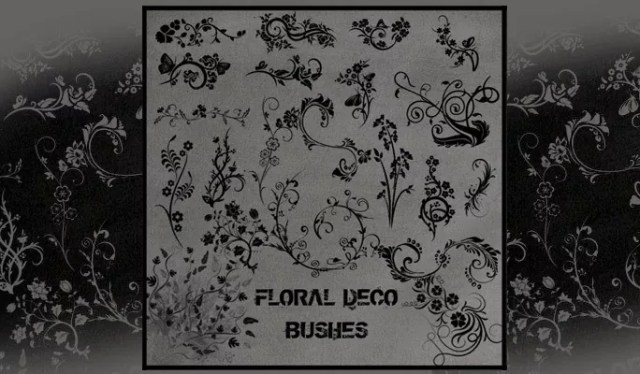 Floral Deco Brushes - Free floral brushes for photoshop