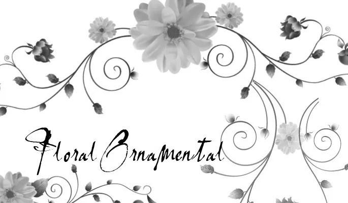 Floral Ornamental Brush Set - Free floral brushes for photoshop