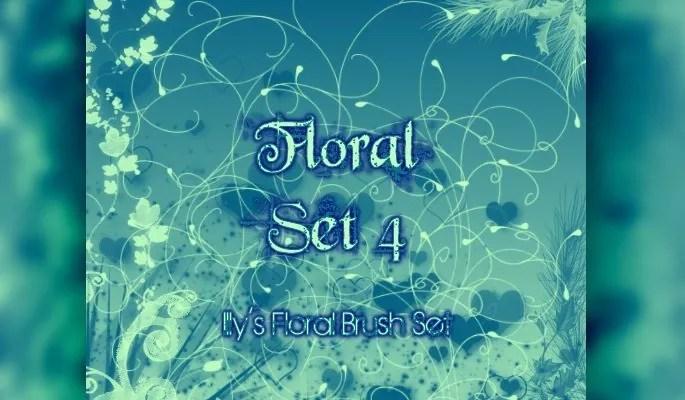 Floral Set 4 - Free floral brushes for photoshop