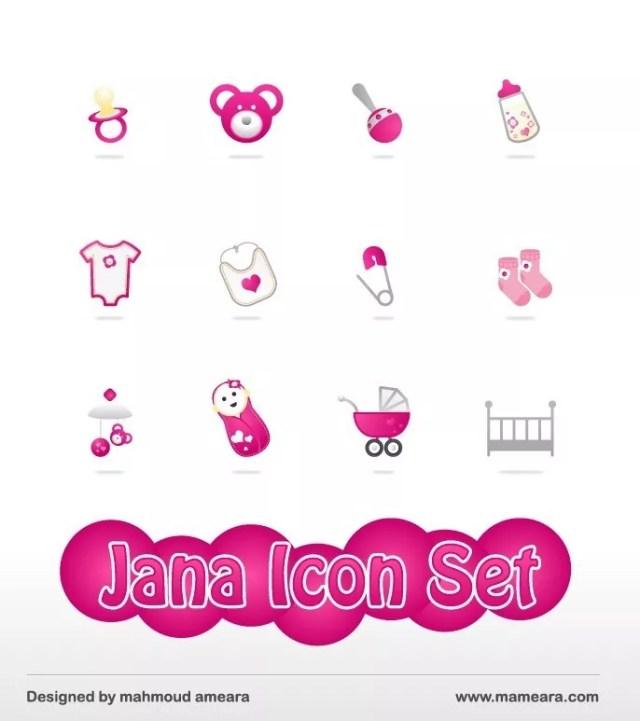 Jana Icon set - Jana free baby icon set