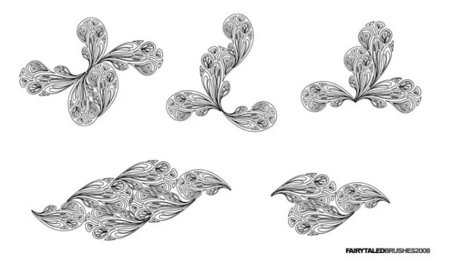 Lineart Brushes - Free floral brushes for photoshop