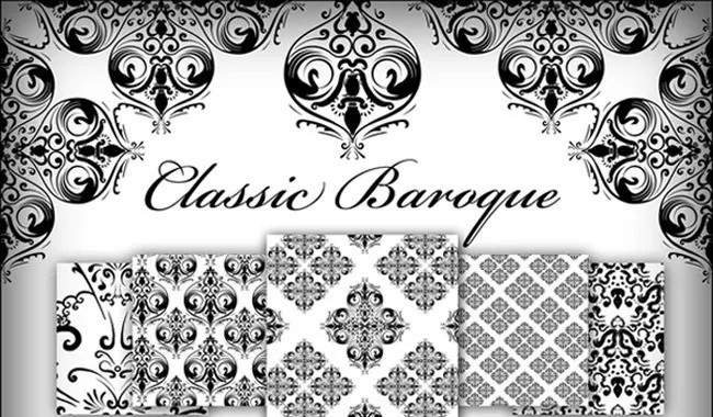 Classic Baroque - Collection of free Photoshop patterns