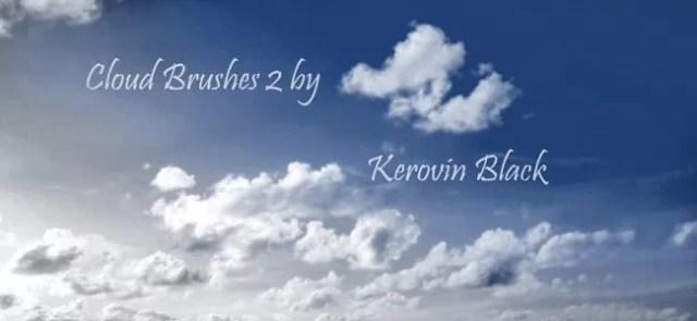 Cloud Brushes08 - 40+ beautiful Photoshop Cloud Brushes