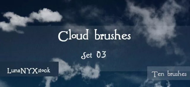 Cloud Brushes09 - 40+ Beautiful Photoshop Cloud Brushes