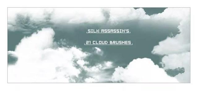 Cloud Brushes11 - 40+ beautiful Photoshop Cloud Brushes