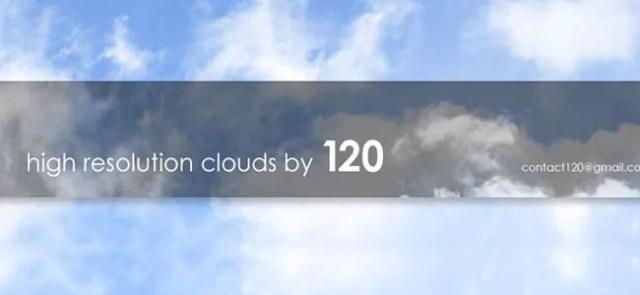 Cloud Brushes12 - 40+ beautiful Photoshop Cloud Brushes