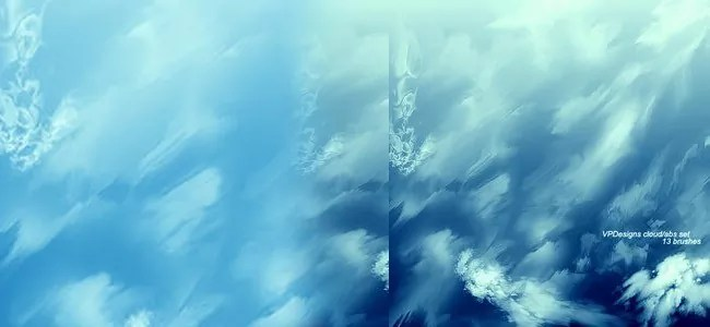 Cloud Brushes14 - 40+ Beautiful Photoshop Cloud Brushes