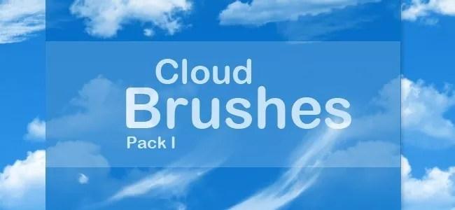 Cloud Brushes17 - 40+ Beautiful Photoshop Cloud Brushes