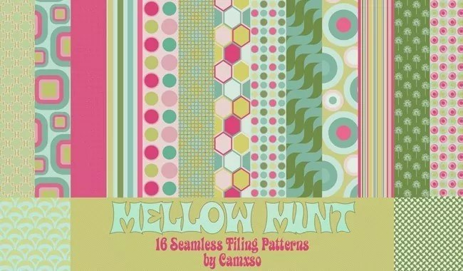Mellow Mint - Collection of free Photoshop patterns