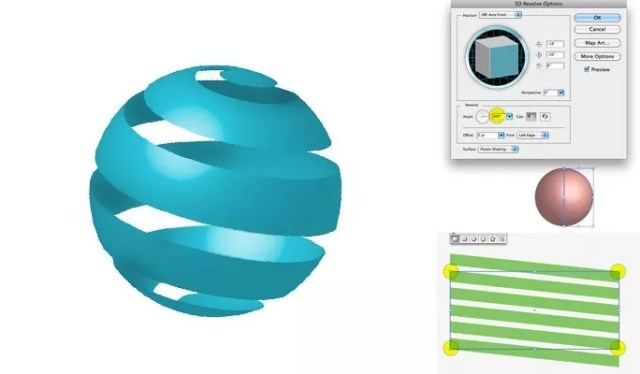 Ribbon Around a Sphere - Another Collection of useful illustrator tutorials