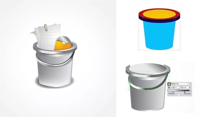 Shiny Bucket Icon - Another Collection of useful illustrator tutorials