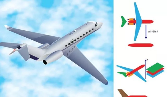 Three dimensional Airplane - Another Collection of useful illustrator tutorials
