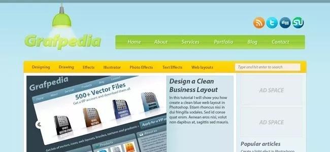 Design a Modern Blog Layout in Photoshop - 21 Photoshop Web Design Layout Tutorials