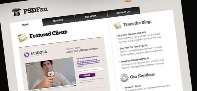 Design a Professional Portfolio Web Layout - 21 Photoshop Web Design Layout Tutorials