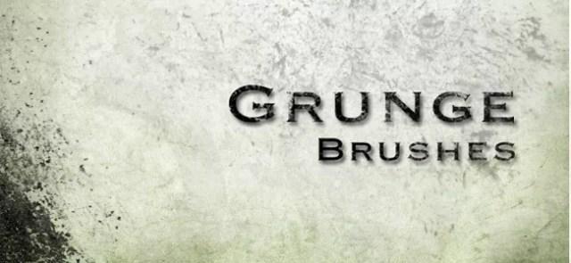 Grunge brushes03 - 450+ Free Grunge Photoshop Brushes