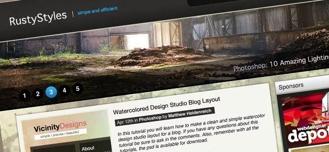 How to Create a Sleek and Textured Web Layout in Photoshop - 21 Photoshop Web Design Layout Tutorials