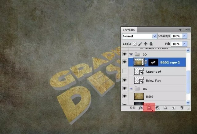 Step10 - 3D Grunge Text Tutorial With Illustrator and Photoshop