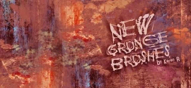 new set of grungy brushes - 450+ Free Grunge Photoshop Brushes