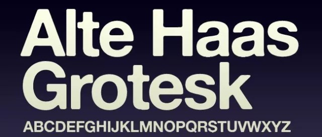 Alte Haas Grotesk - 25+ Free Heavy and Bold Fonts