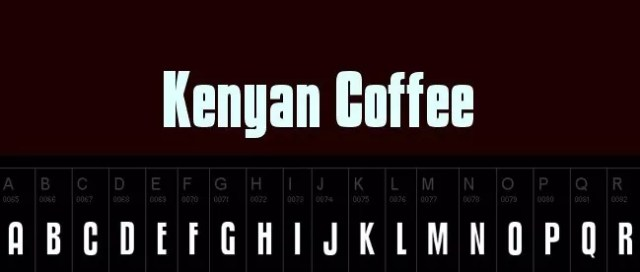 Kenyan Coffee - 25+ Free Heavy and Bold Fonts