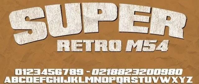 Super Retro Font