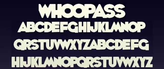 WhoopAss - 25+ Free Heavy and Bold Fonts