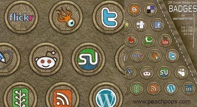 Social icons10 - 25 Set of Amazing Free Social Icons
