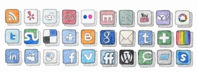 Social icons23 - 25 Set of Amazing Free Social Icons