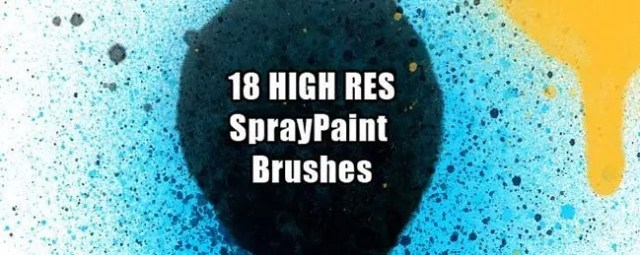 SprayPaintBrush 01 - 100+ Free Spray and Splatter Paint Photoshop Brushes