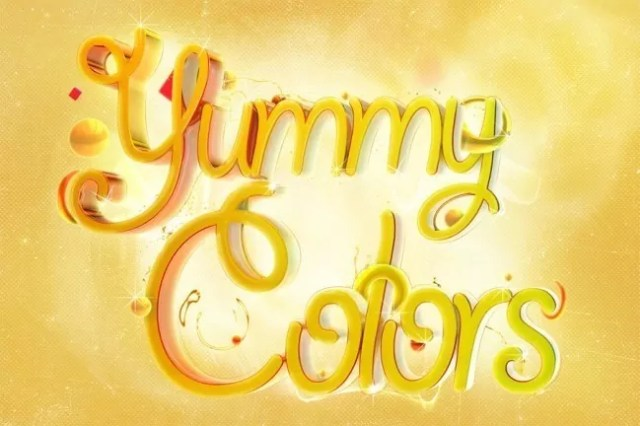 yummy colors by naziito d2zya89 e1319365052190 - Amazing and inspiring typography designs #5