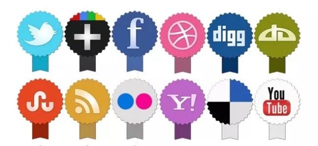 social - Freebie: Set of social icons