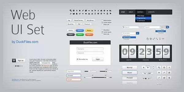 user interface elements - Weekly Fresh Web Design Freebies – Vol. 22 (12-21-2011)