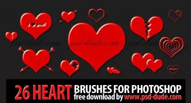 Heart Photoshop Brushes - Free Photoshop Heart Brushes