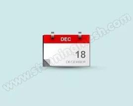 blog calendar icon design in photoshop fina result - Lets design Blog Calendar Icon in Photoshop