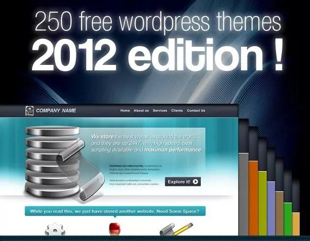 wordpress themes - 250 Free WordPress Themes! 2012 Edition