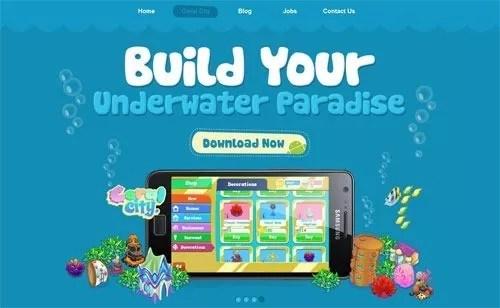 blue web design2 - 30+ Wonderful Blue Website Designs