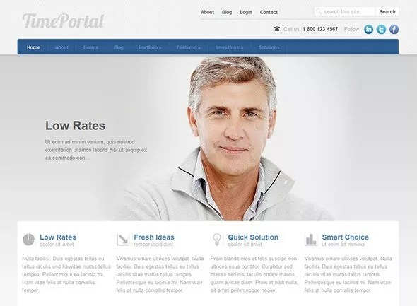 time portal thumb - Medical WordPress Themes for Health Care Clinics