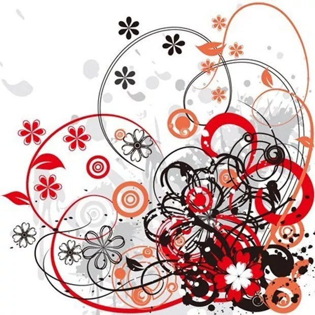 florel large vectorgab - Floral Abstract Vector Background Graphic
