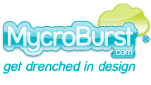logo - MycroBurst Drenches Their Customers in Design