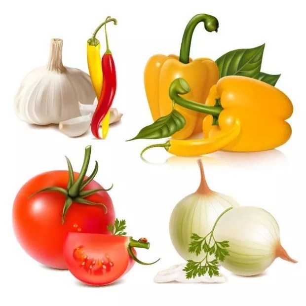 Vegetables large vectorgab - Free Vector Vegetables Free Download