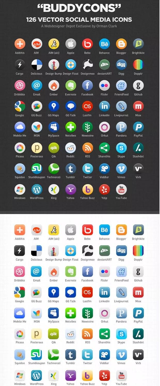 buddy large vectorgab - 126 Vector Social Media Icons Free Download
