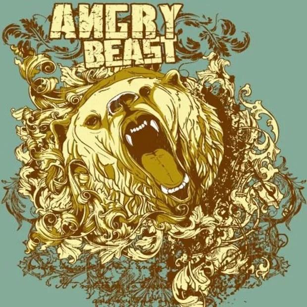 beast large vectorgab - Angry Killer Bear T-Shirt vector