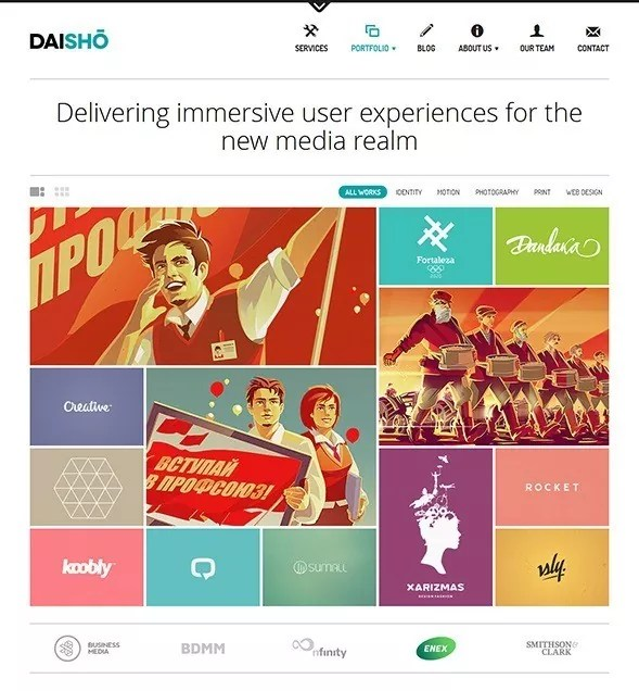 daisho thumb - 30 Responsive WordPress Themes with Grid-Based Layout