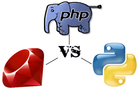 ruby vs php vs python 450x293 - Ruby on Rails Vs PHP Vs Python